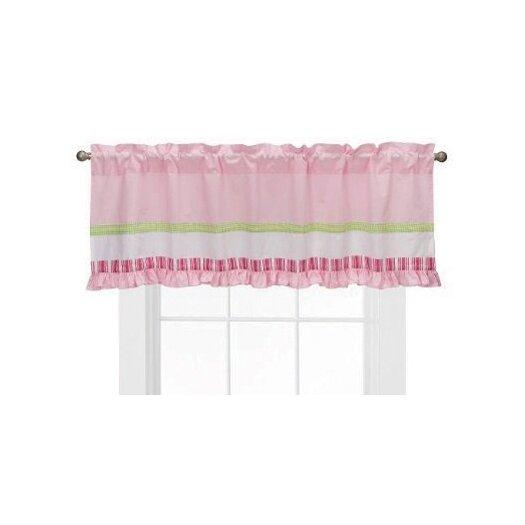 "Bacati Girls Stripes and Plaids 58"" Curtain Valance"