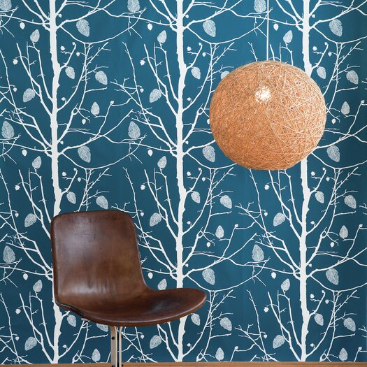 """ferm LIVING Family Tree Wallsmart 33' x 21""""  Floral and Botanical Wallpaper"""