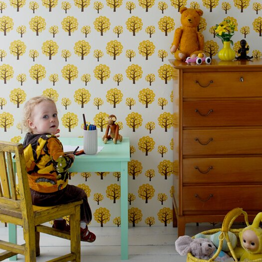 """ferm LIVING Dotty Kids 32.8' x 20.9"""" Wallpaper"""
