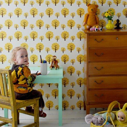"ferm LIVING Dotty Kids 32.8' x 20.9"" Floral and Botanical Wallpaper"