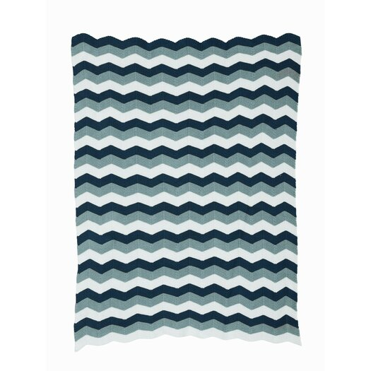 ferm LIVING Zag Knitted Cotton Throw Blanket