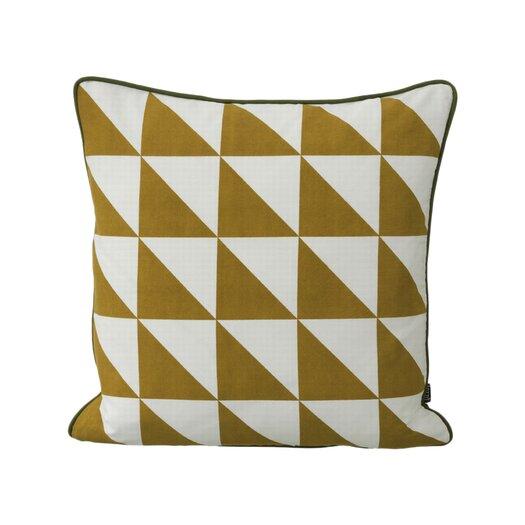 ferm LIVING Modern Geometric Cotton Throw Pillow