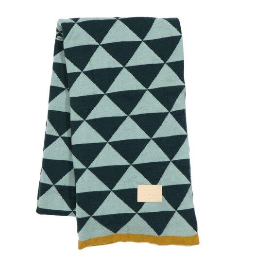 ferm LIVING Modern Geometric Cotton Throw Blanket