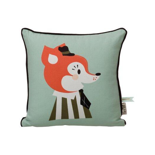 ferm LIVING Mr. Frank Fox Organic Cotton Throw Pillow