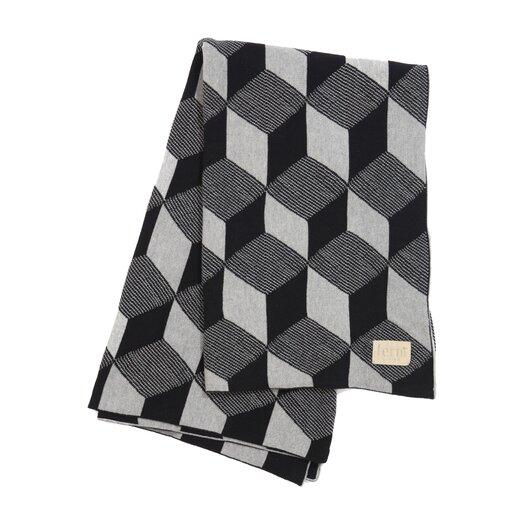 ferm LIVING Squares Cotton Throw Blanket