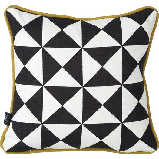 ferm LIVING Little Geometry Organic Cotton Throw Pillow