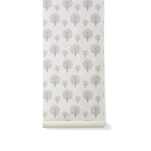 """ferm LIVING Kids Dotty Floral Botanical 33.06' x 21"""" Wallpaper"""