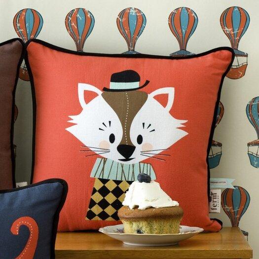 ferm LIVING Aristo Katt Organic Cotton Throw Pillow