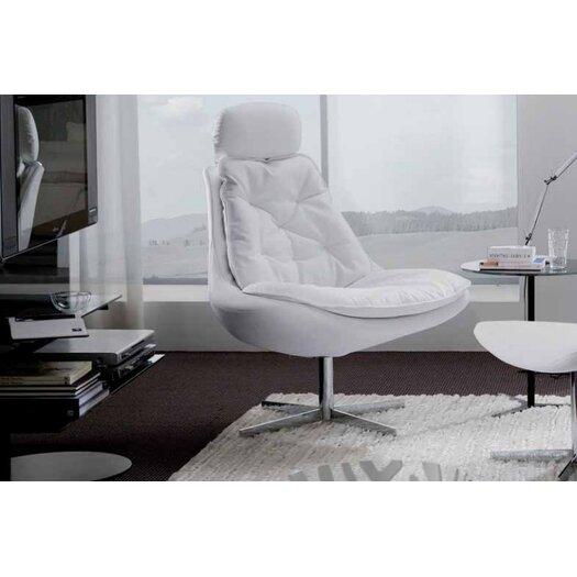 Bontempi Casa Daya Upholstered Armchair and Ottoman