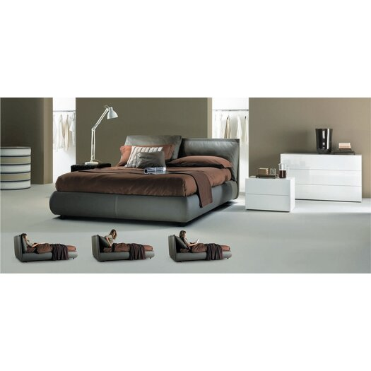 Bontempi Casa Queen Upholstered Platform Bed