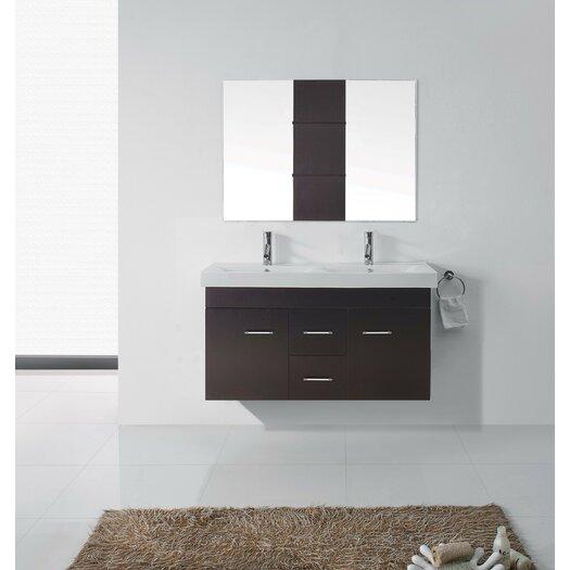 Virtu Ultra Modern Series 48 Double Bathroom Vanity Set