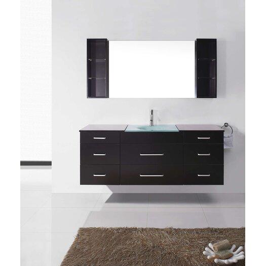 """Virtu Colombo 63"""" Single Bathroom Vanity Set with Mirror"""
