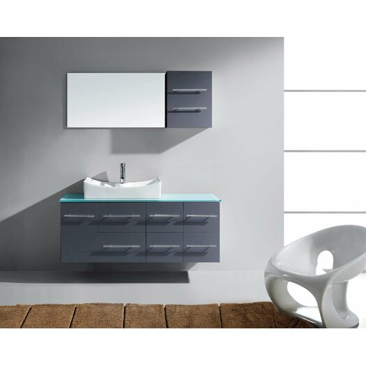Virtu Ultra Modern 53 Quot Single Bathroom Vanity Set With