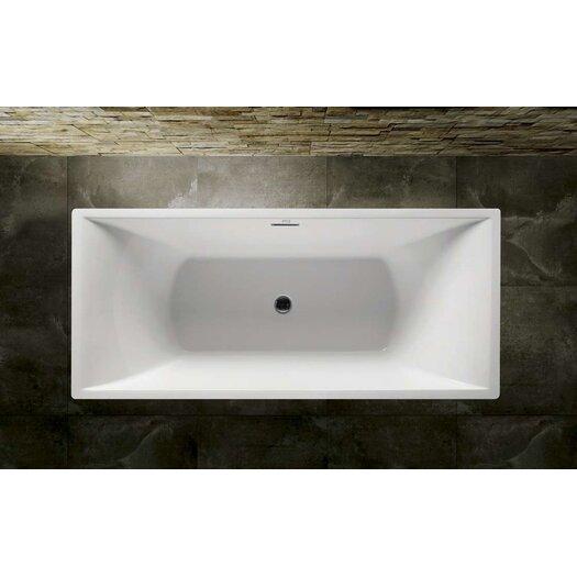 """Virtu Serenity 67"""" x 28""""  Soaking Bathtub"""