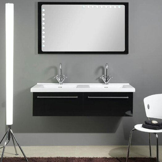 "Iotti by Nameeks Fly 49"" Double Bathroom Vanity Set with Mirror"