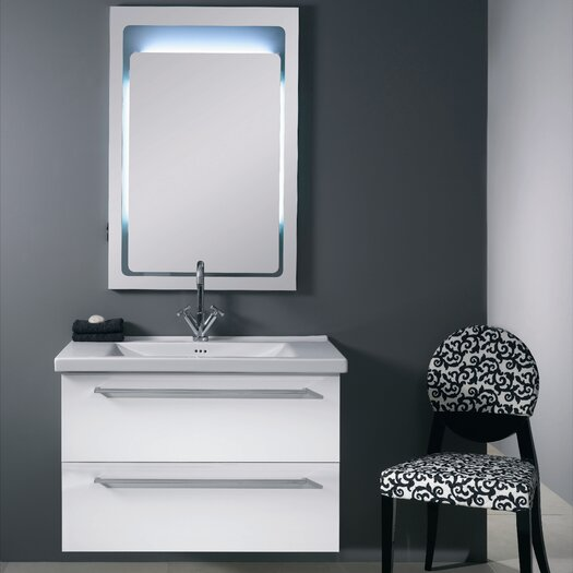 "Iotti by Nameeks Fly 37"" Single Wall Mounted Bathroom Vanity Set with Mirror"