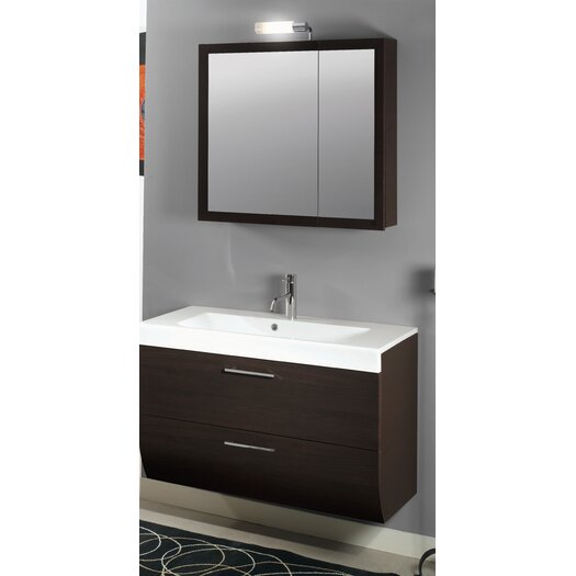 "Iotti by Nameeks New Day 38"" Single Wall Mounted Bathroom Vanity Set with Mirror"