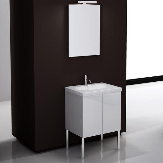 """Iotti by Nameeks Trendy 24"""" Single Footed Bathroom Vanity Set with Mirror"""