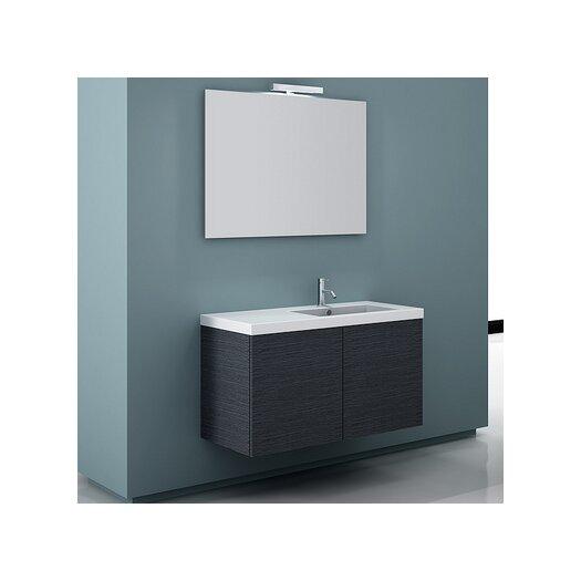 "Iotti by Nameeks Space 39"" Single Wall Mount Bathroom Vanity Set with Mirror"