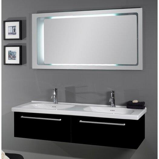 "Iotti by Nameeks Fly 57"" Double Bathroom Vanity Set with Mirror"