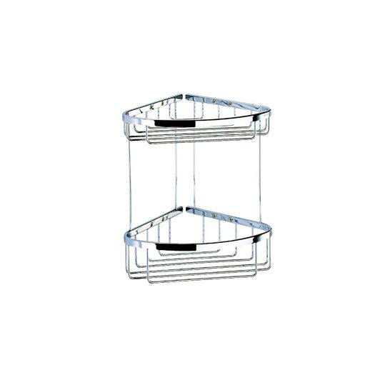 Geesa by Nameeks Basket Double Large Corner Shower Basket in Chrome