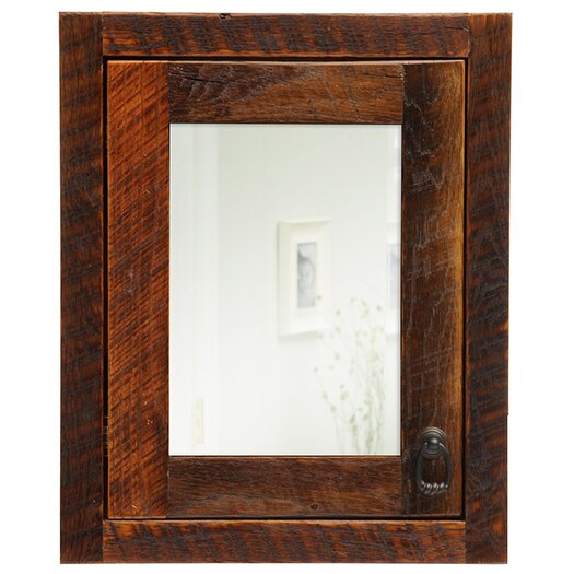 "Fireside Lodge Barnwood 18"" x 22"" Recessed Medicine Cabinet"