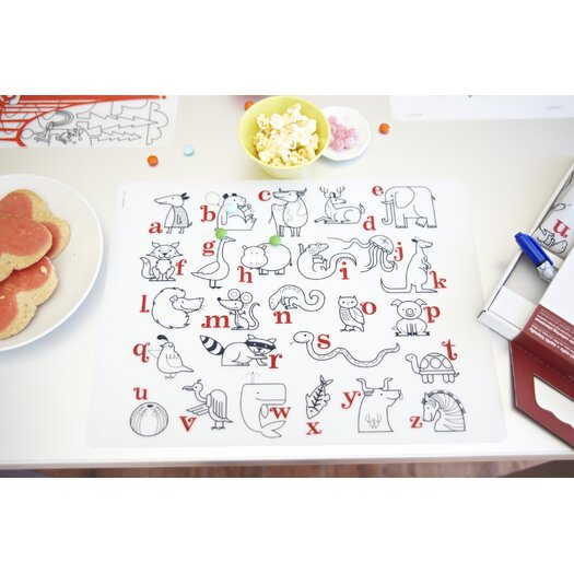 Modern-twist Kids Alaphabet Animals Placemat