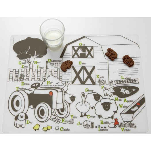 Modern-twist Kids Farm Buddies Placemat