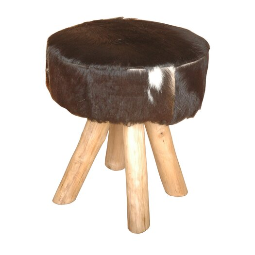 Jeffan Safari Hide Accent Stool