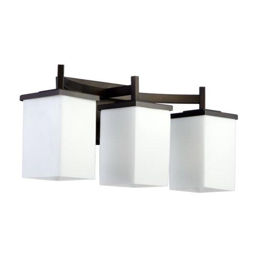 Galaxy Lighting Delta 3 Light Bathroom Vanity: Quorum Delta 3 Light Bath Vanity Light