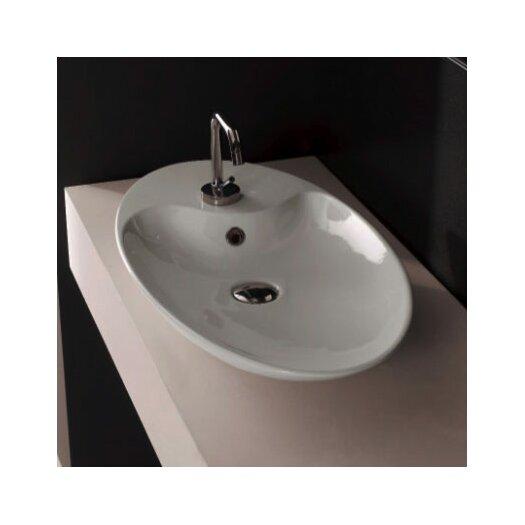 Scarabeo by Nameeks Shape Oval 1 Hole Vessel Bathroom Sink