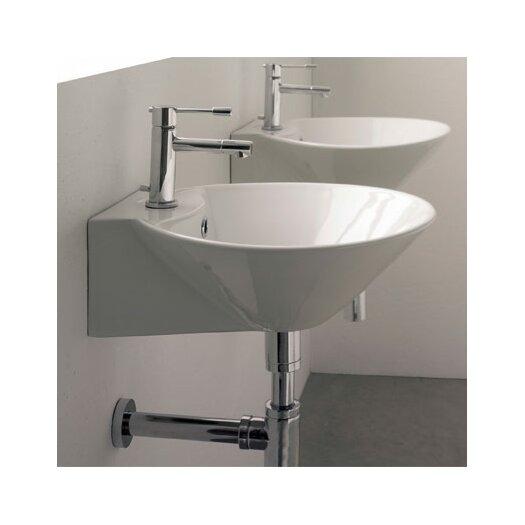 Scarabeo by Nameeks Cono Wall Mounted Bathroom Sink