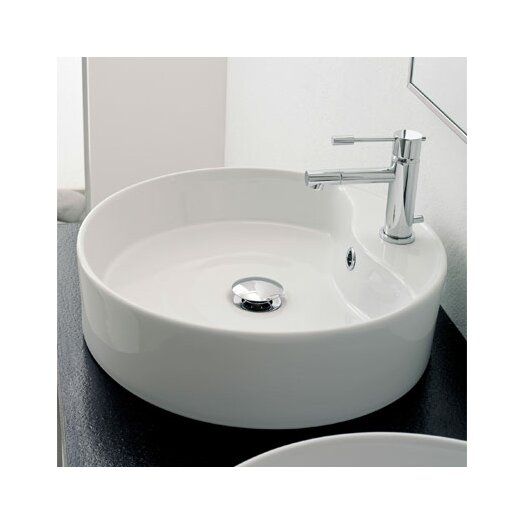 Scarabeo by Nameeks Geo Above Counter Single Hole Bathroom Sink