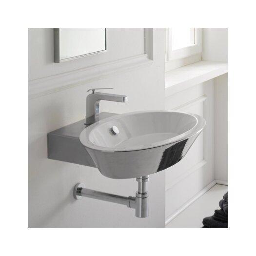 Scarabeo by Nameeks Wish Thin Edge Wall Mount Bathroom Sink