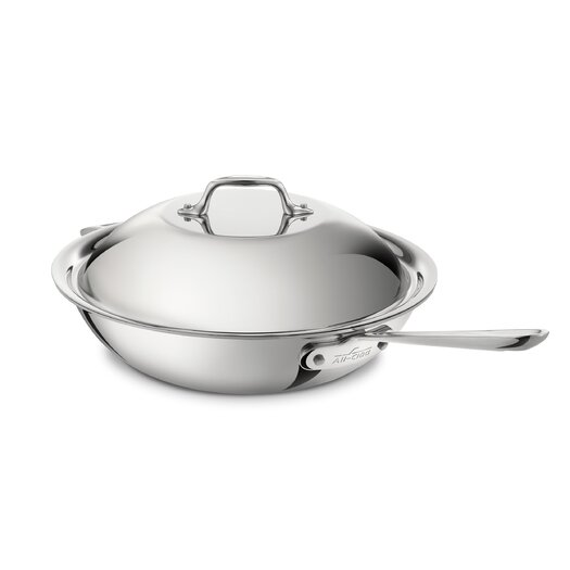 """All-Clad Stainless Steel 12"""" Chef's Pan with Lid"""
