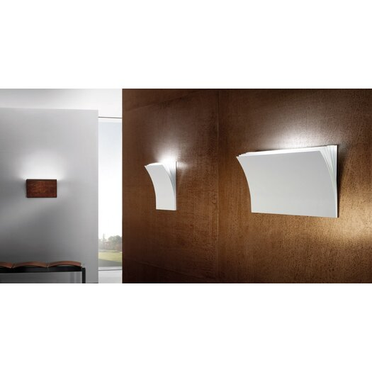 Axo Light Polia 1 Light Wall Sconce in Textured Pearl White