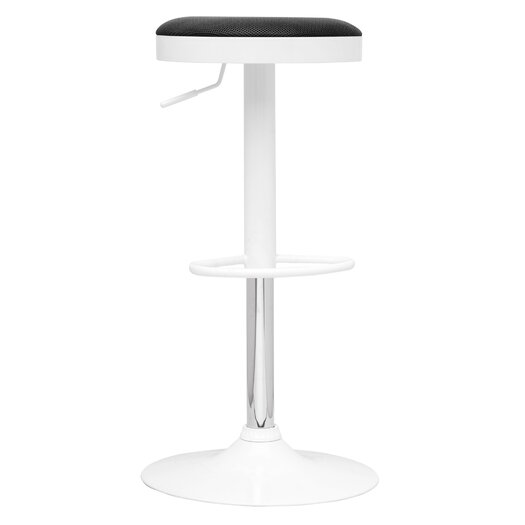 Chintaly Adjustable Height Swivel Bar Stool With Cushion