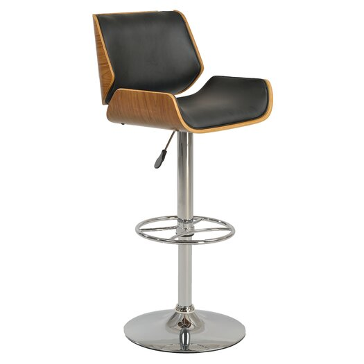 Chintaly Adjustable Height Swivel Bar Stool with Cushion  : Chintaly Imports 252 Bar Stool 1387 AS BLK from www.allmodern.com size 525 x 525 jpeg 23kB