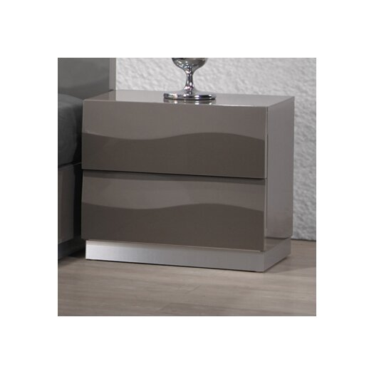 Chintaly Imports Delhi 2 Drawer Nightstand