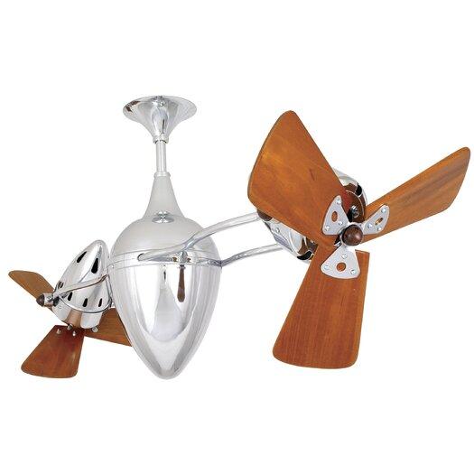 """Matthews Fan Company 48"""" Ar Ruthiane 3 Wooden Blade Rotational Ceiling Fan"""