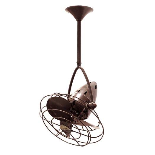 """Matthews Fan Company 13"""" Jarold 3 Metal Blade Ceiling Fan"""