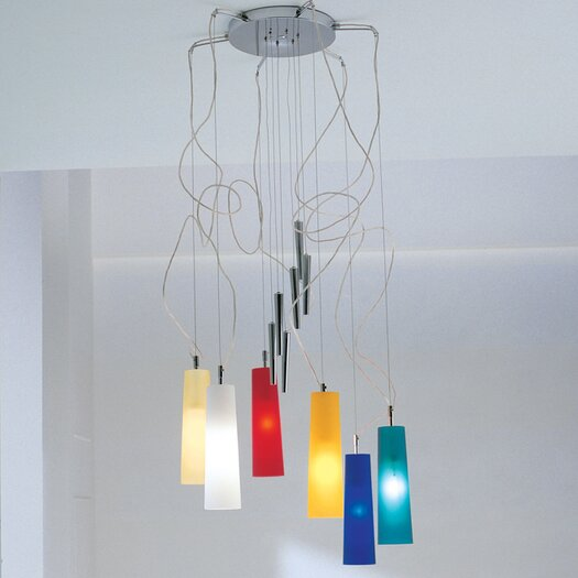 LALU Stilo Six Light Up And Down Pendant