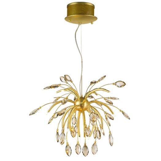 Golden Lighting Palm Chandelier