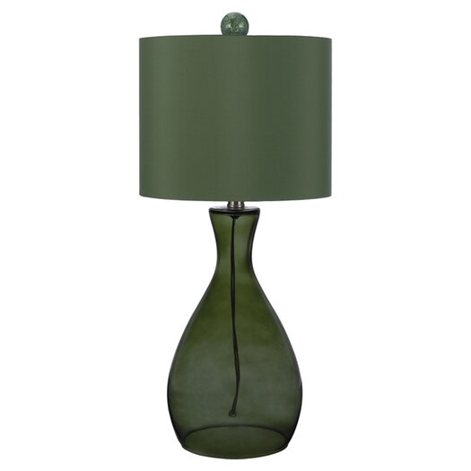 "angelo:HOME Hand Blown 26"" H Table Lamp with Drum Shade"