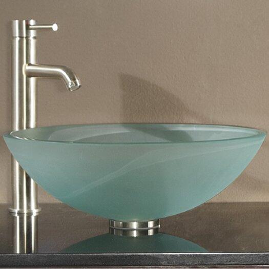 Avanity Tempered Glass Vessel Bathroom Sink