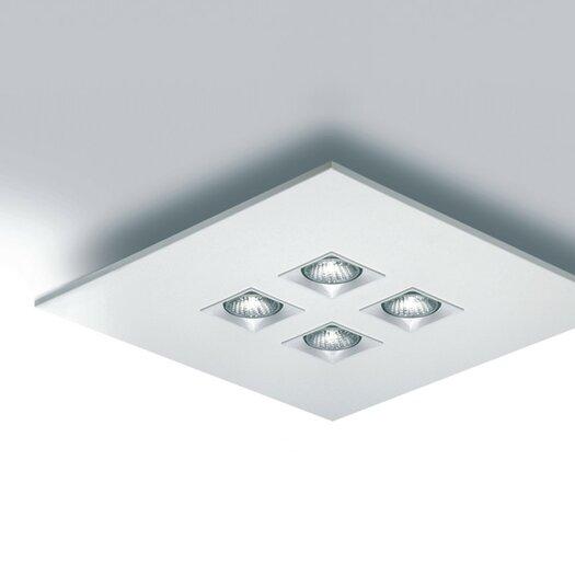 "Zaneen Lighting Polifemo 17.75"" Flush Mount with White Glass"