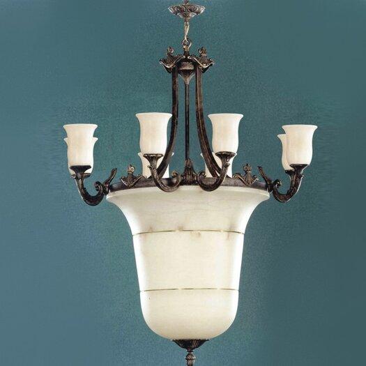 Zaneen Lighting Vidra Chandelier in Rustic Bronze