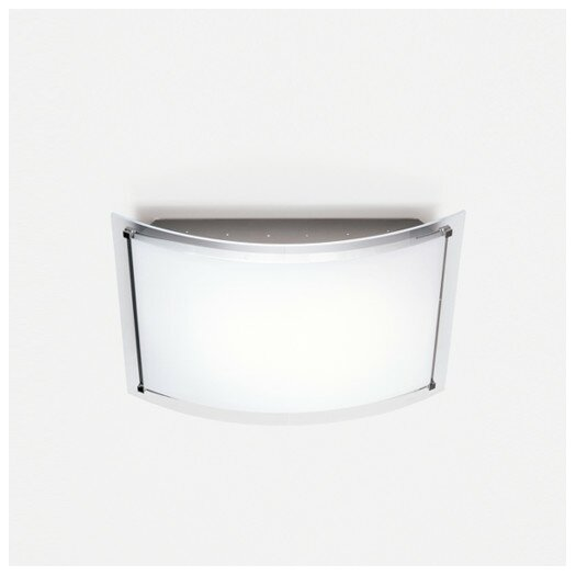Zaneen Lighting Vision Single Light Flush Mount in Chrome and Painted Aluminum