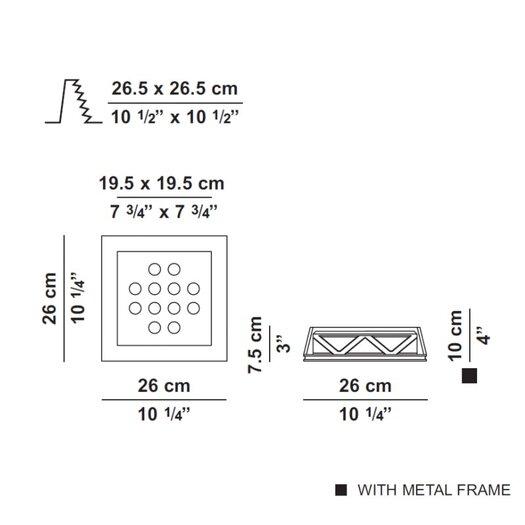 Zaneen Lighting Invisibli Fixed LED Recessed Trim