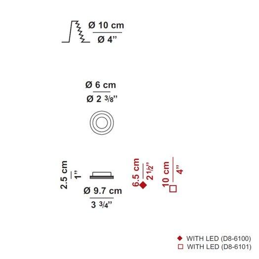 "Zaneen Lighting Invisibli Fixed LED 3.75"" Recessed Trim"